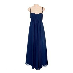 NEW! Navy Long Formal Evening Gown Dress